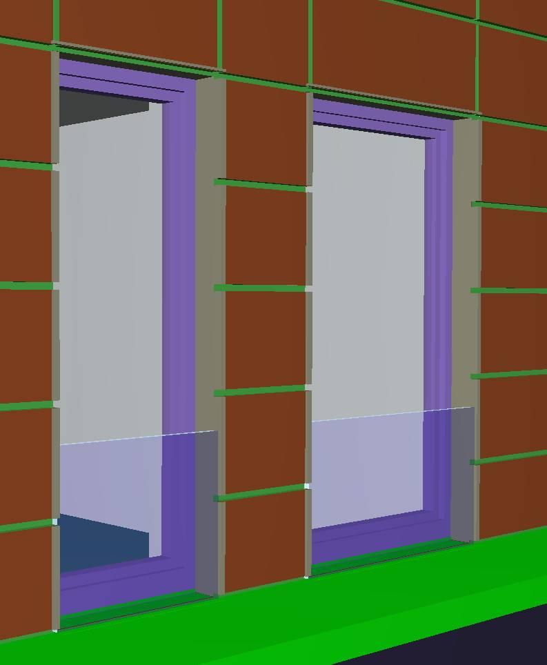 Abvent 3d architecture design for Panneau de fenetre