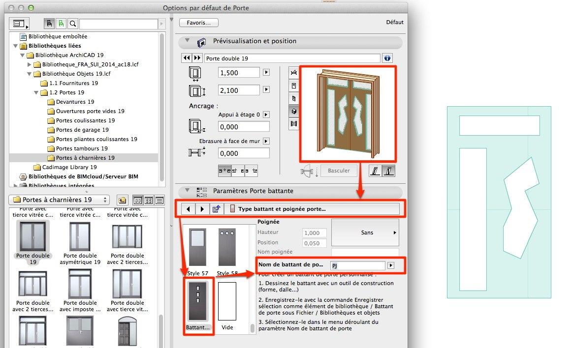 Abvent 3d architecture design - Battant de porte ...