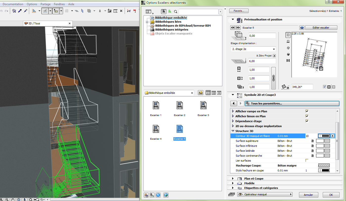 bibliotheque archicad 3d
